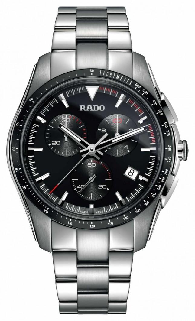 RADO XXL HyperChrome Chronograph Stainless Steel Black Dial Watch R32259153
