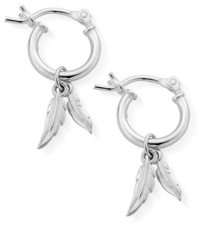 ChloBo   Women's Double Feather   Small Hoop Earrings   SEH584