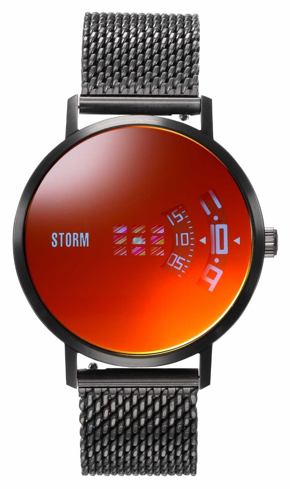 STORM   Remi V2 Mesh Slate Red   Black Mesh Bracelet   Red Dial   47460/SL/R