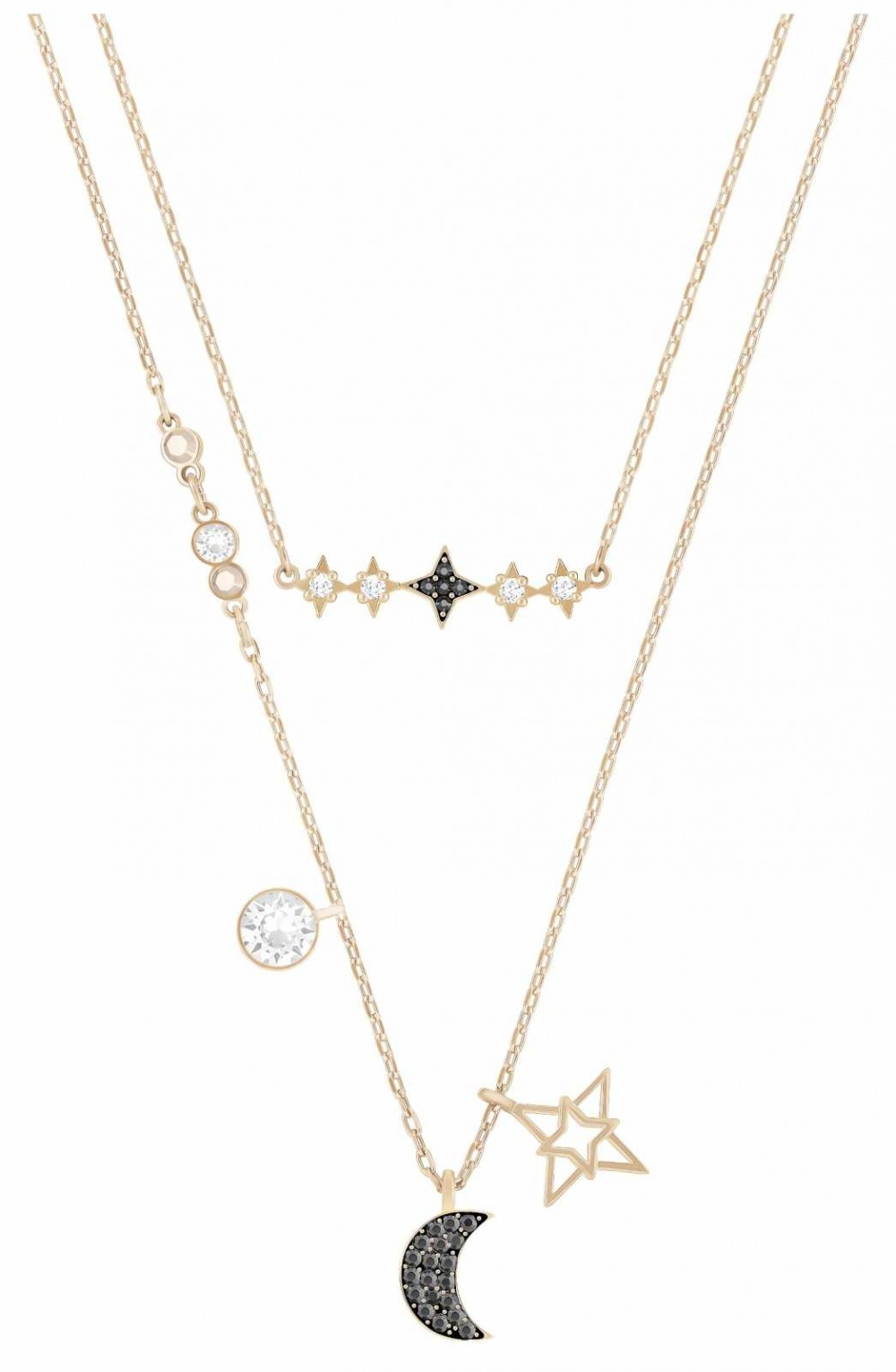 Swarovski Symbolic | Star/Moon Necklace Set | Rose Gold |MultiColoured 5273290