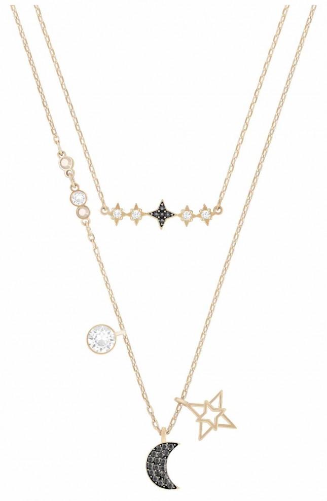 Swarovski Symbolic   Star/Moon Necklace Set   Rose Gold  MultiColoured 5273290