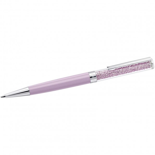 Swarovski Crystalline  Light Lilac  Stainless Steel  Ballpoint Pen 5224388