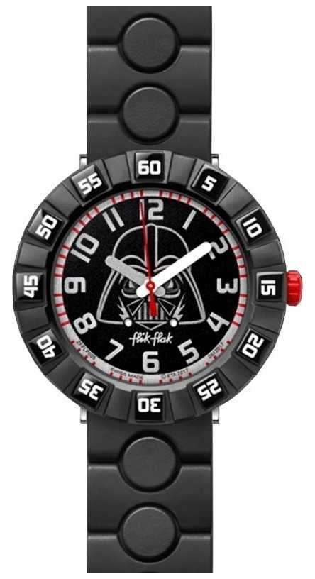 Flik Flak | Star Wars Darth Vader | Black Rubber Strap | Black Dial FFLP005