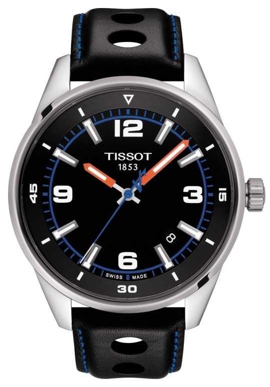 Tissot   Alpine   Black Leather Strap   Black Dial   T1236101605700