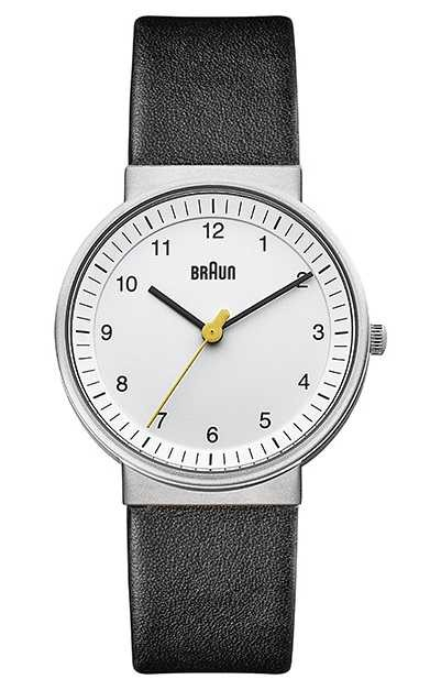 Braun | Womens | Simple Quartz | Black Leather Strap | BN0031WHBKL