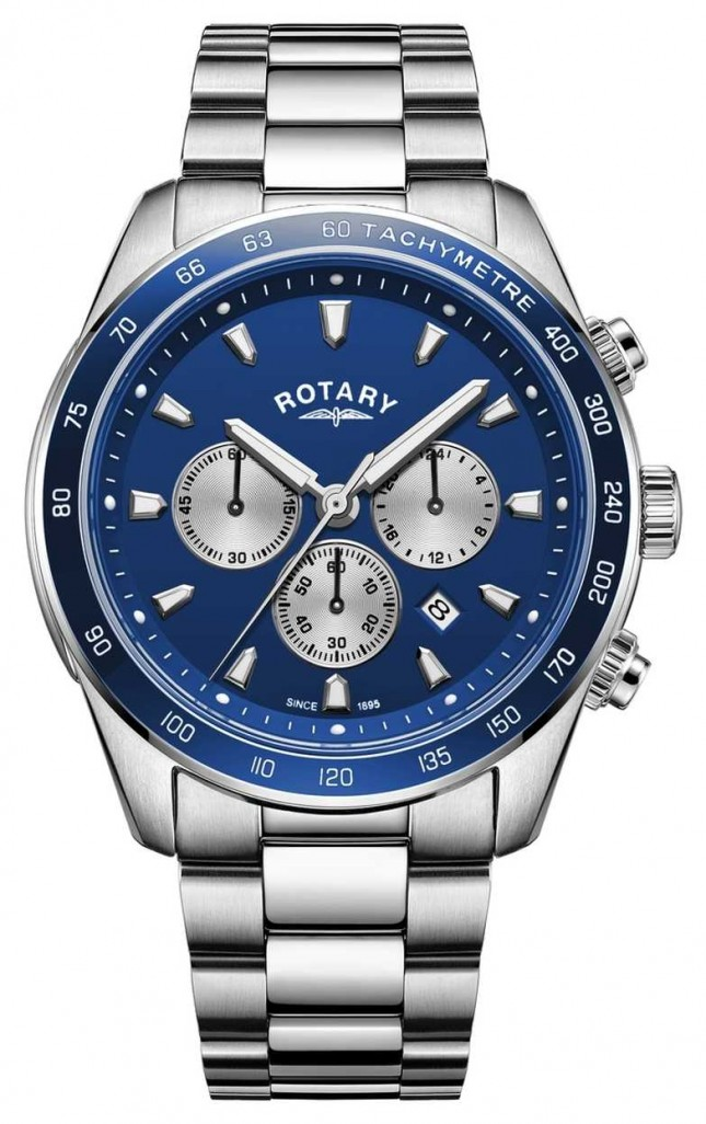 Rotary | Men's Henley | Blue Chronograph Dial | Stainless Steel | GB05109/05