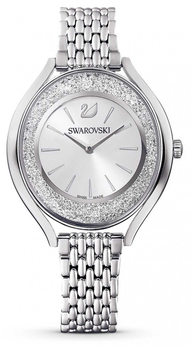 Swarovski Crystalline Aura   Stainless Steel Metal Bracelet   Silver 5519462