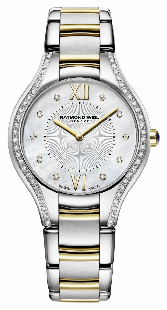 Raymond Weil Noemia Ladies Mother Of Pearl Dial 32mm With Diamonds 5132-SPS-00985