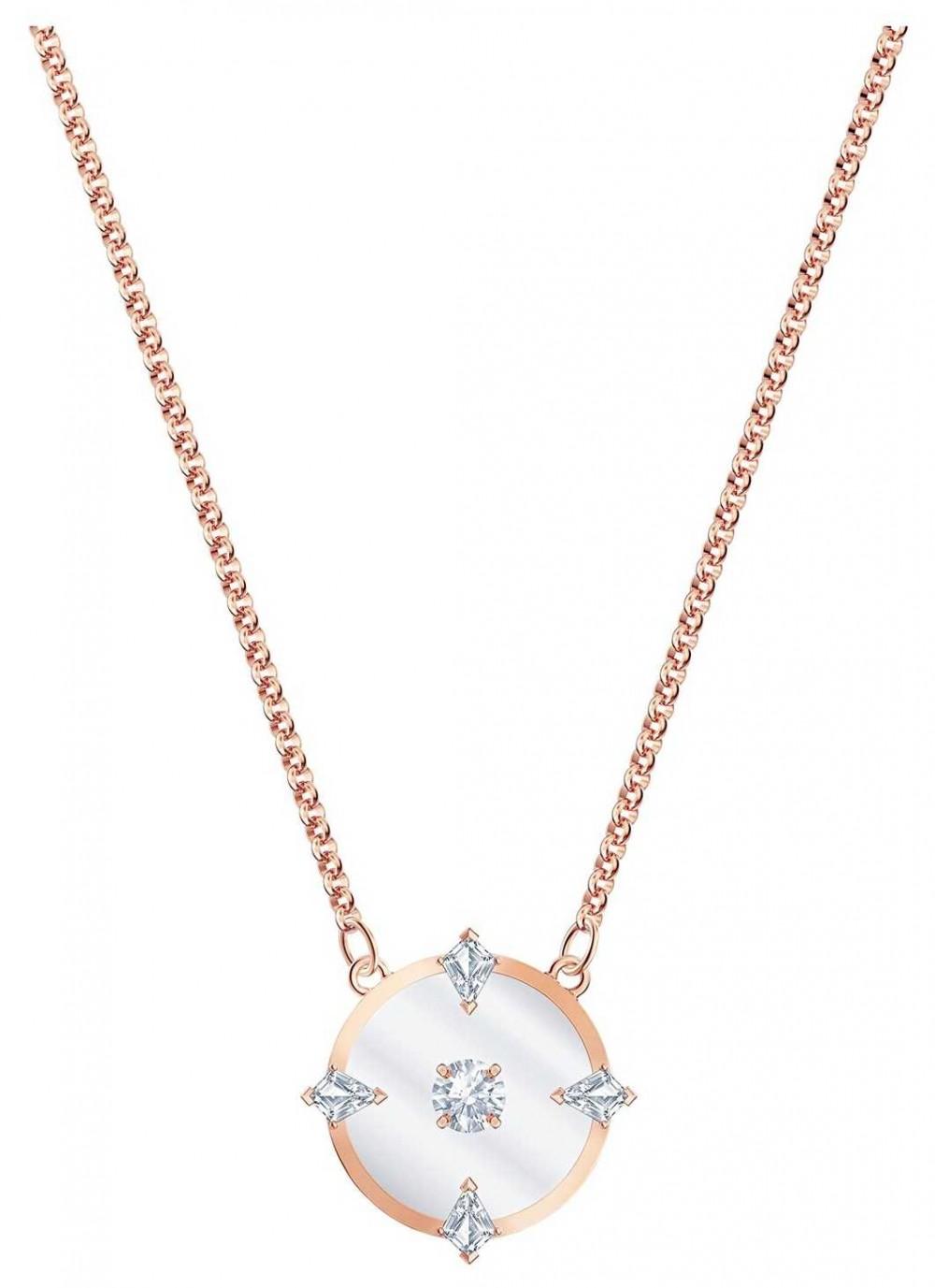 Swarovski North | Rose Gold Plated Necklace | White 5488400