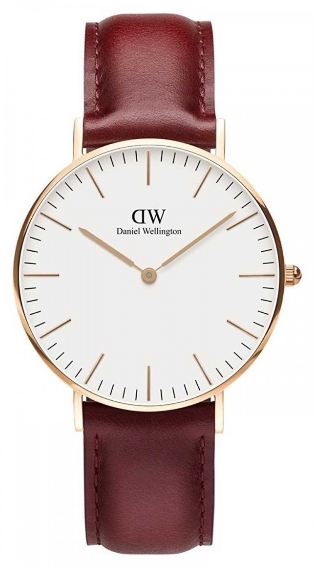 Daniel Wellington Classic Suffolk Rose Gold PVD Case Brown Leather strap DW00100122