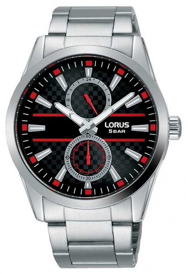 Lorus Men's Quartz Multi Dial | Stainless Steel Bracelet | Black R3A57AX9