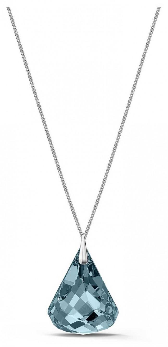 Swarovski Spirit | Rhodium Plated Necklace | Blue Drop Crystal 5521034