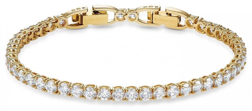 Swarovski Tennis Deluxe Bracelet   Gold-Tone Plated   White   M   5511544