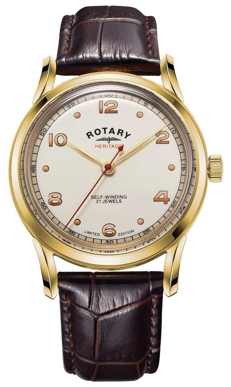 Rotary Mens   Limited Edition   Heritage   Brown Leather Strap GS05143/03