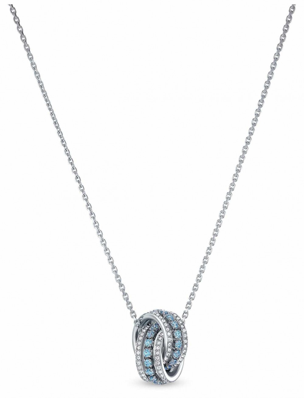 Swarovski | Further | Rhodium Plated | Blue Crystal | Pendant | 5537106