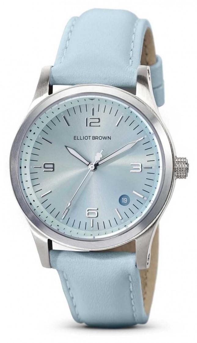 Elliot Brown | Women's | Kimmeridge | Aqua Sunray Dial | Aqua Strap | 405-015-L61