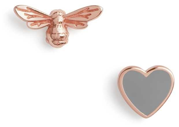 Olivia Burton | You Have My Heart | Grey And Rose Gold | Stud Earrings | OBJLHE45