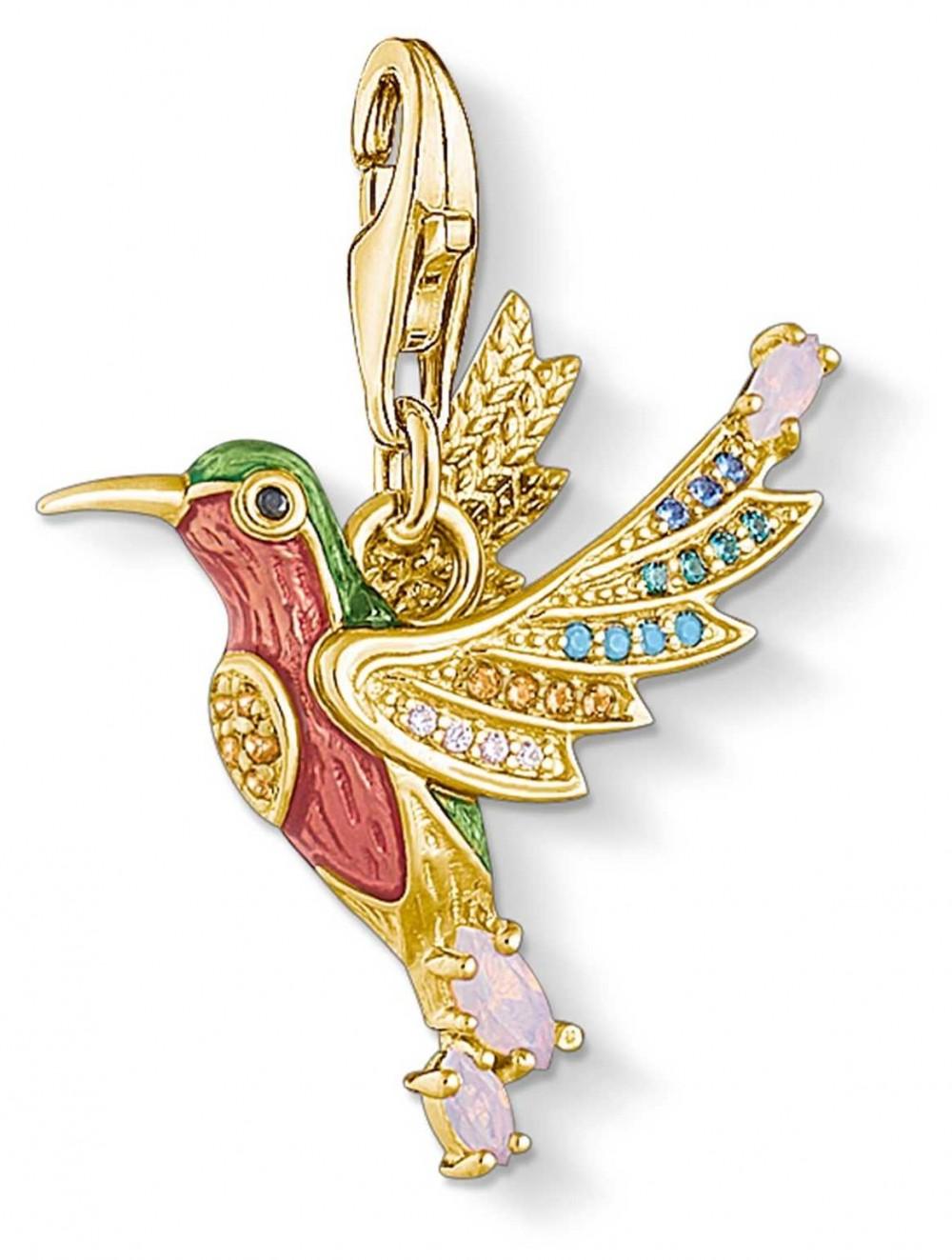 Thomas Sabo | Charm Pendant Colourful Humming Bird | Gold 1828-974-7