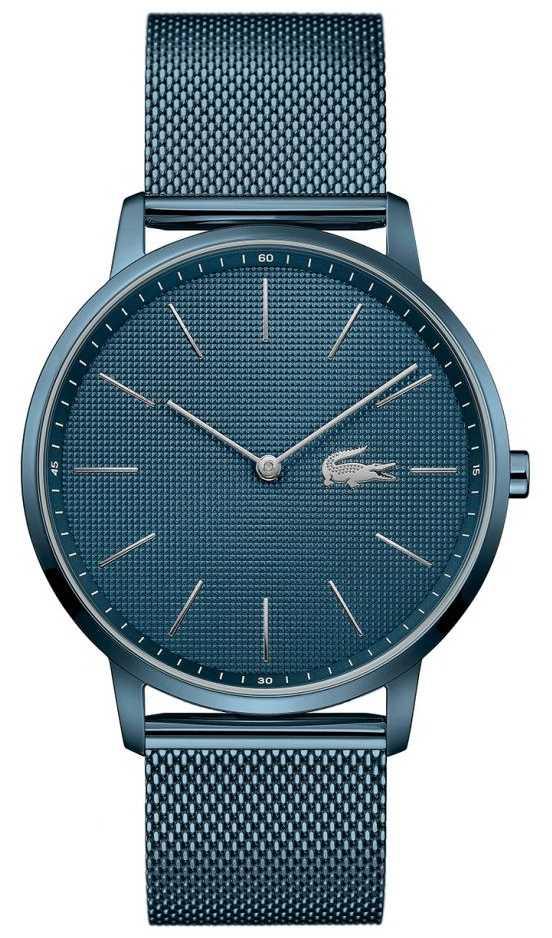 Lacoste Men's Moon | Blue PVD Mesh Bracelet | Blue Dial 2011057
