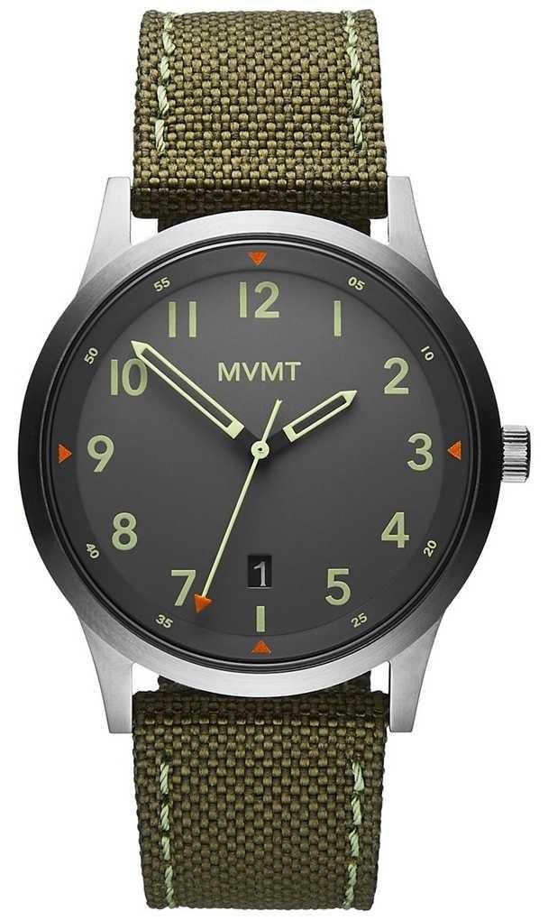 MVMT Men's   Field   Green Canvas Strap   Grey Dial 28000014-D