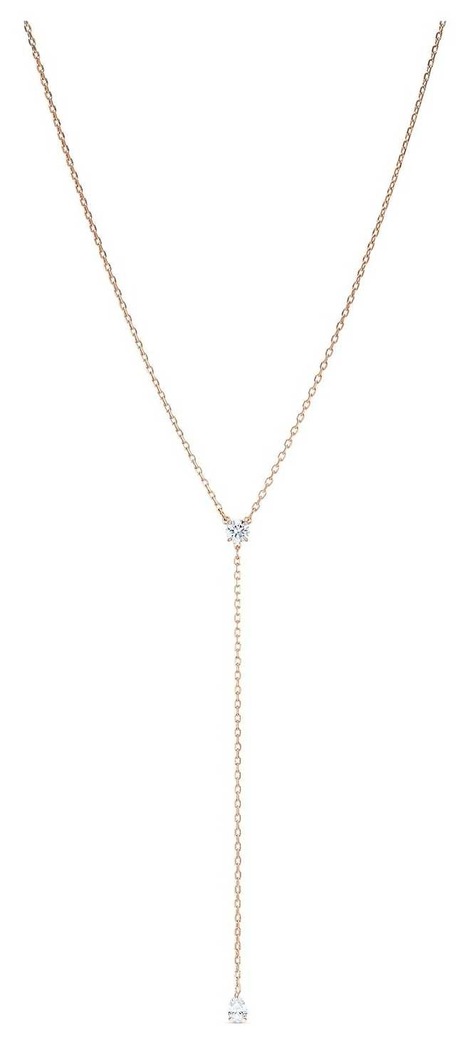 Swarovski   Attract   Soul Y-Necklace   Rose-Gold Plated   White 5539007