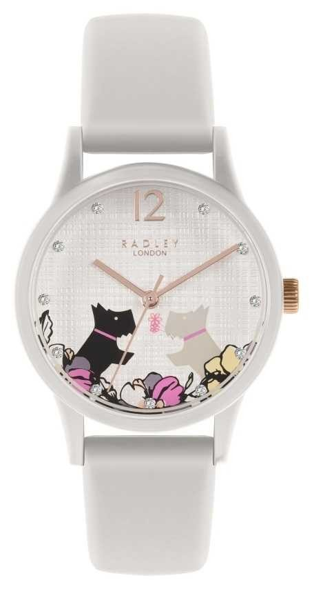 Radley   Women's Off White Silicone Strap   Floral Dog Motif Dial   RY2986