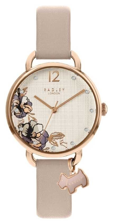 Radley   Women's Pink Leather Strap   Floral Print Dial   RY2982