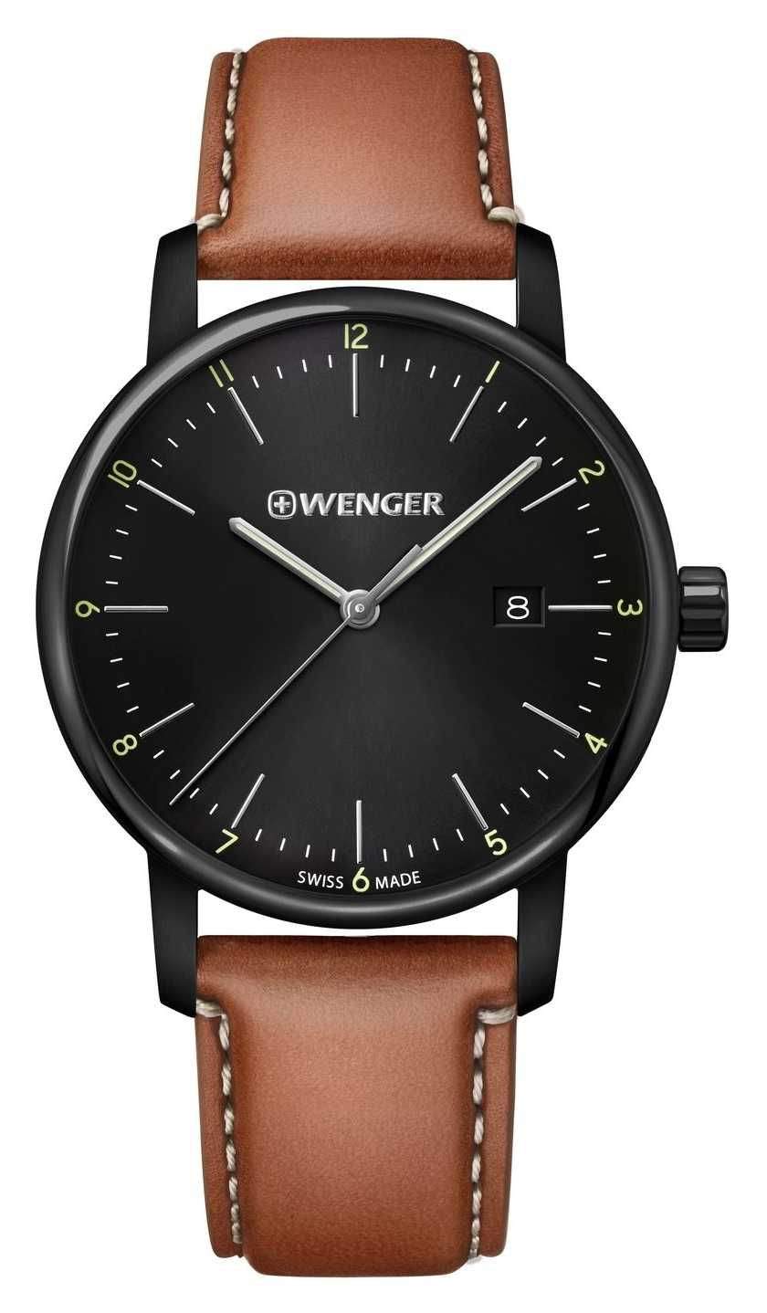 Wenger | Urban Classic | Brown Leather | Black Dial 01.1741.136