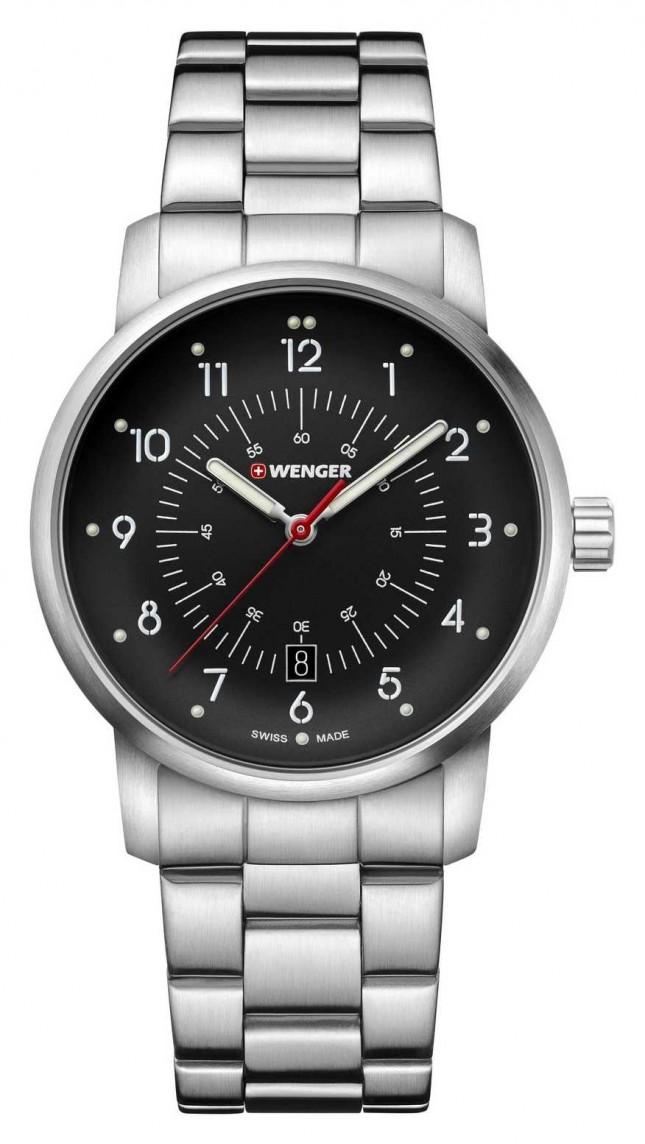 Wenger | Avenue | Stainless Steel Bracelet | Black Dial | 01.1641.116