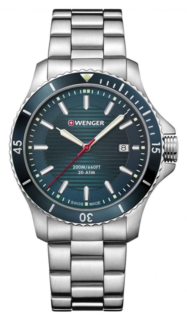 Wenger | Seaforce | Stainless Steel Bracelet | Petrol Blue Dial | 01.0641.129