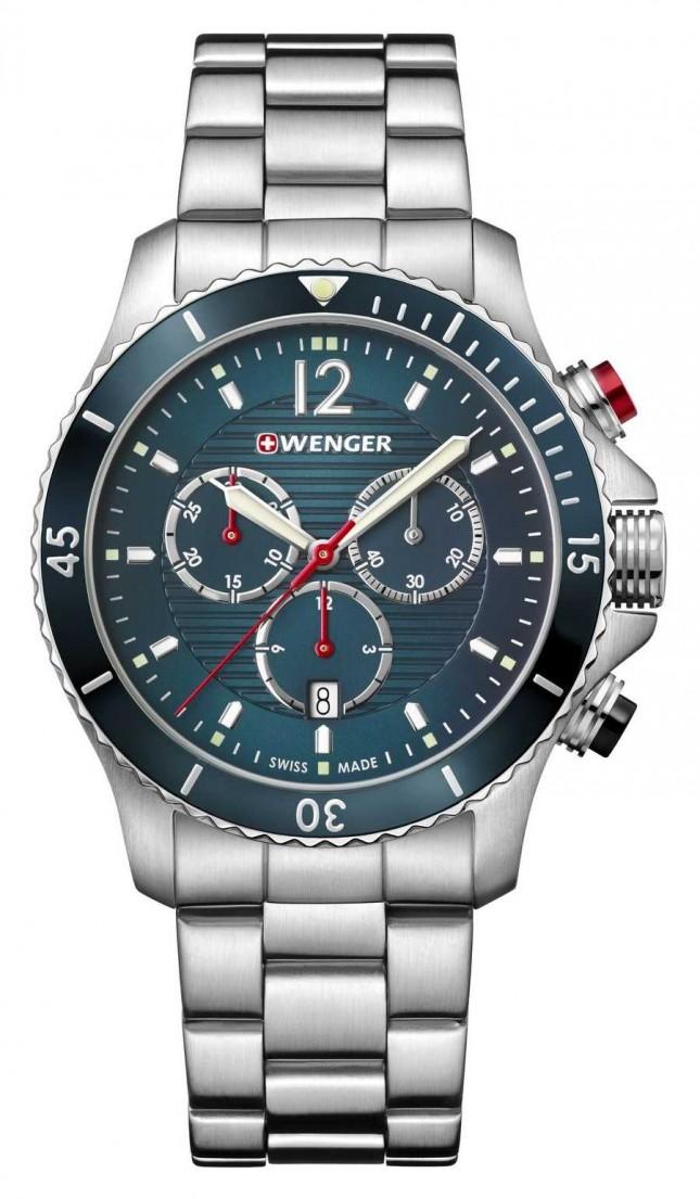 Wenger | Seaforce Chrono | Stainless Steel Bracelet | Blue Dial | 01.0643.115