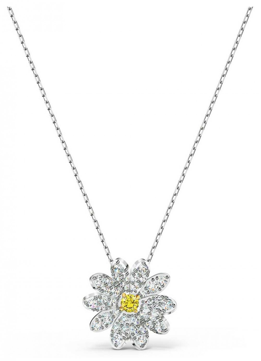 Swarovski | Eternal | Flower Pendant Necklace | Yellow | Mixed Metal 5512662