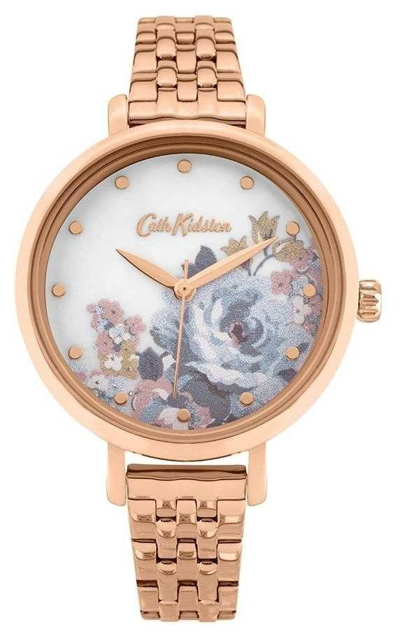 Cath Kidston | Women's Somerset | Rose Gold Plated Bracelet | Floral Dial CKL087RGM