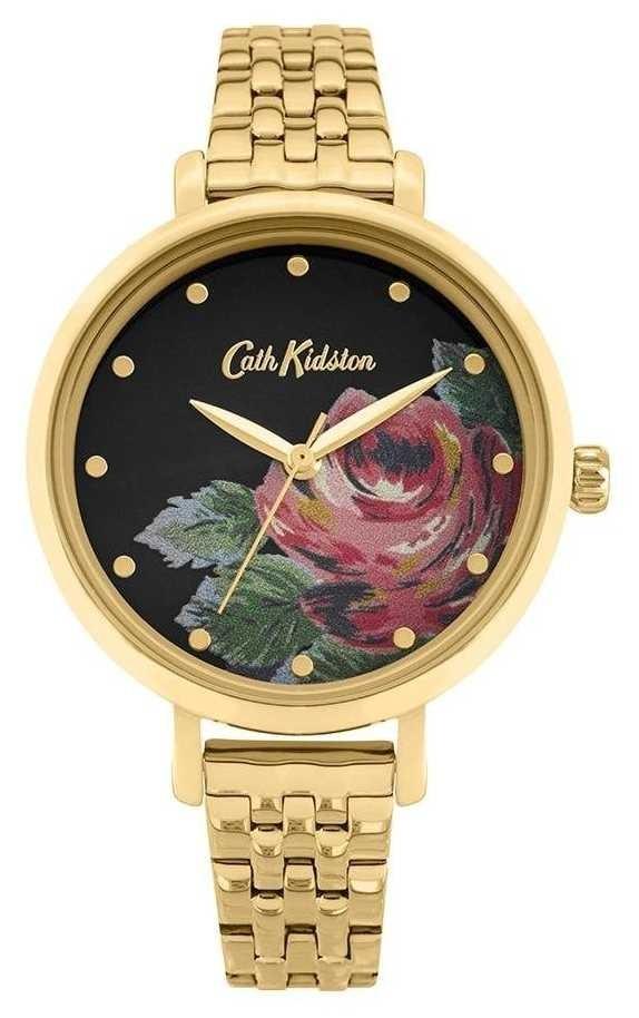 Cath Kidston | Women's Oxford | Gold Plated Steel Bracelet | Floral Dial CKL087GM