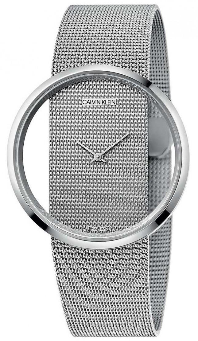 Calvin Klein   Glam   Silver Steel Mesh Bracelet   Silver Dial   K9423T27