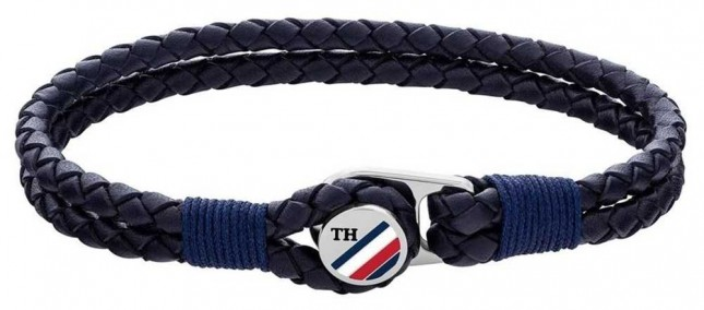 Tommy Hilfiger | Casual | Blue Button Leather Bracelet 2790221S