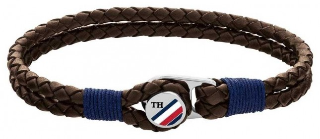 Tommy Hilfiger | Casual |  Brown Button Leather Bracelet 2790196S