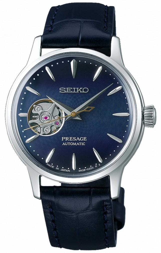 Seiko | Presage Ladies Mechanical | Blue Calf Leather | Blue Dial SSA785J1