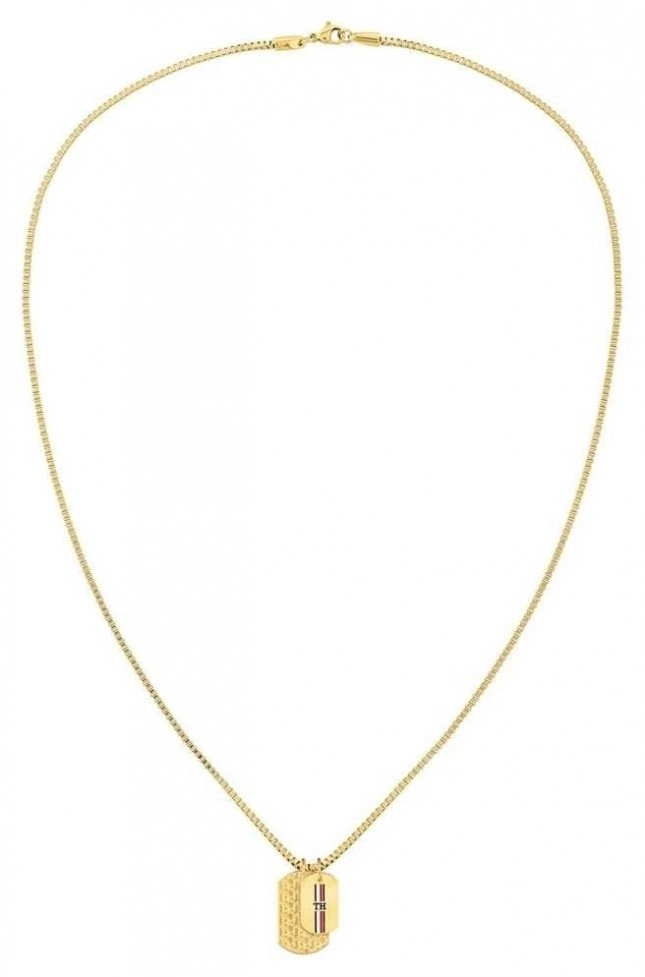 Tommy Hilfiger | Casual | Gold-Tone Double Dog Tag Necklace | 2790211
