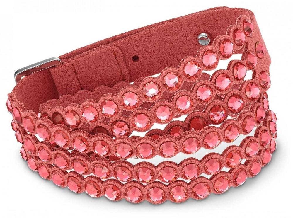 Swarovski   Power   Slake Fabric Bracelet   Red   5531287