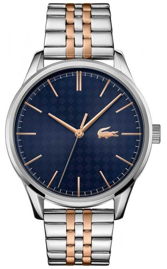 Lacoste Men's Vienna | Two Tone Stainless Steel Bracelet | Blue Dial 2011048