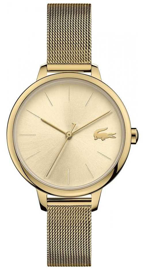 Lacoste Women's Cannes | Gold PVD Mesh | Gold Dial 2001128