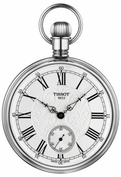 Tissot Lepine Mechanical Pocket Watch Stainless Steel T8614059903300