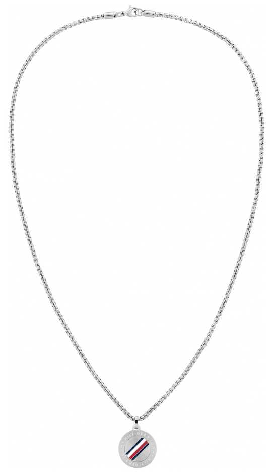 Tommy Hilfiger | Men's Casual | Stainless Steel Circle Pendant Necklace | 2790212