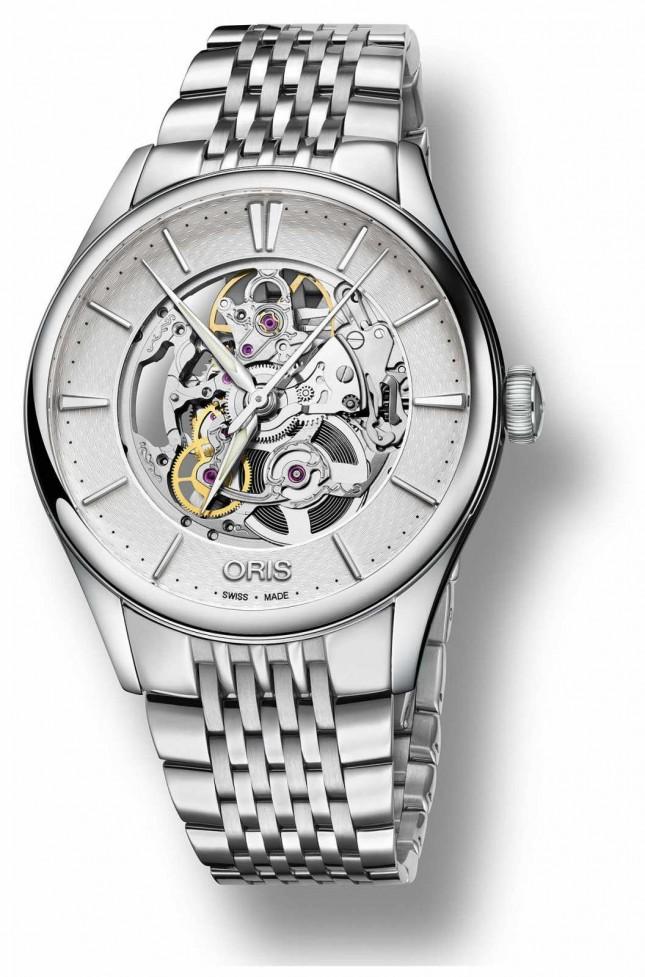ORIS | Artelier Skeleton Automatic | Stainless Steel Bracelet | 01 734 7721 4051-07 8 21 79