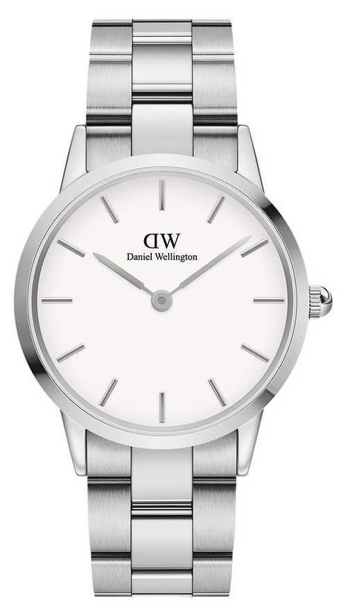 Daniel Wellington Iconic Link 36mm Stainless Steel White Dial DW00100203