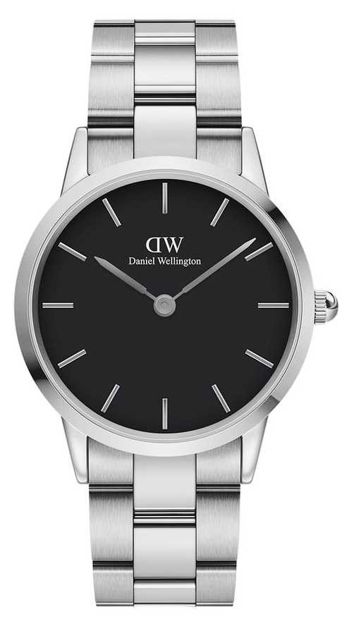 Daniel Wellington Iconic Link 36mm Stainless Steel Black Dial DW00100204