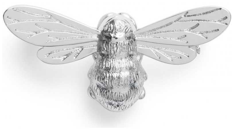 Olivia Burton Lucky Bee Silver Brooch OBPIN12N