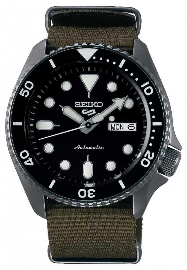 Seiko 5 Sport | Sports | Automatic | Black Dial | Khaki NATO SRPD65K4