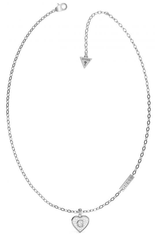 Guess GShine | Silver Stainless Steel Necklace UBN79034